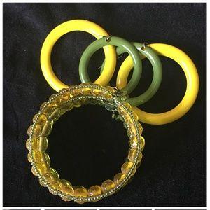 Beaded Bracelet Hoop Earrings Boho